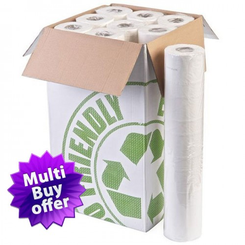 "Progena White 20"" Couch Rolls, 50 cm x 40 m. Case of 9 rolls"
